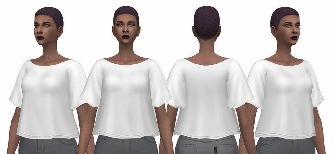 Sims 4 Short Textured Female Hair Edit at Busted Pixels
