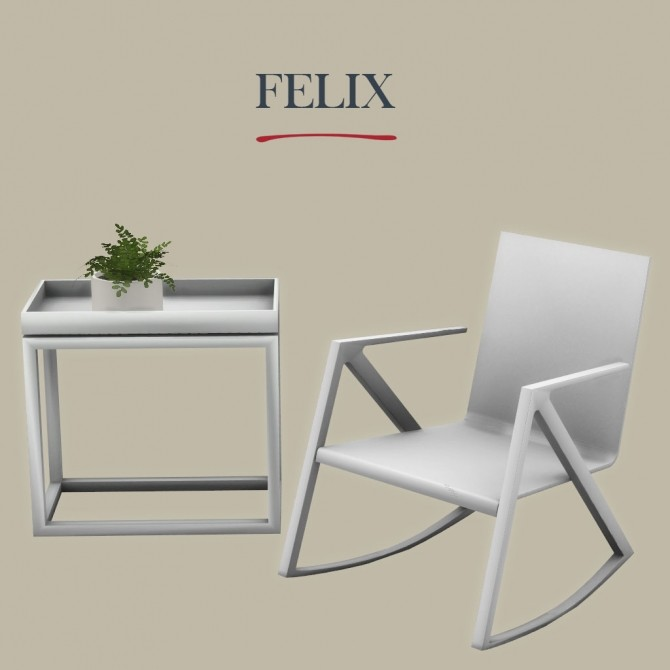 Felix chair & table at Leo Sims image 286 670x670 Sims 4 Updates