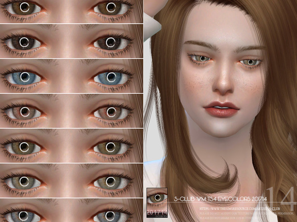 Sims 4 Eyecolors 201714 by S Club WM at TSR