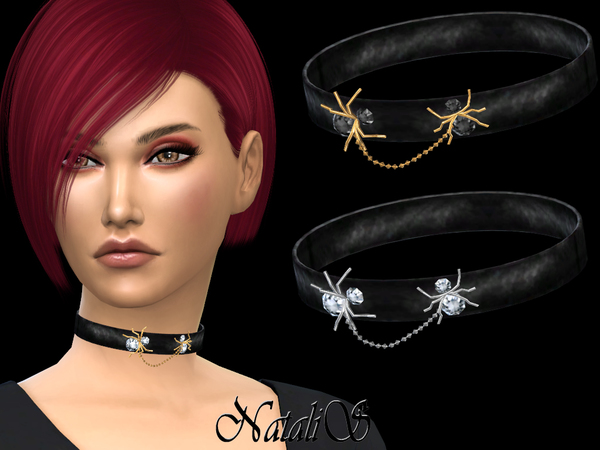 Choker with Spiders by NataliS at TSR image 2910 Sims 4 Updates