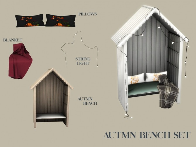autumn bench set at leo sims