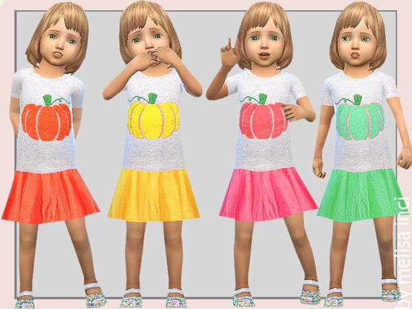 Sims 4 Pumpkin Dress by melisa inci at TSR