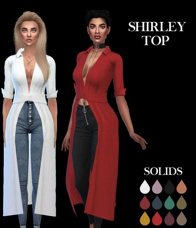 Sims 4 Shirley Top at Leo Sims