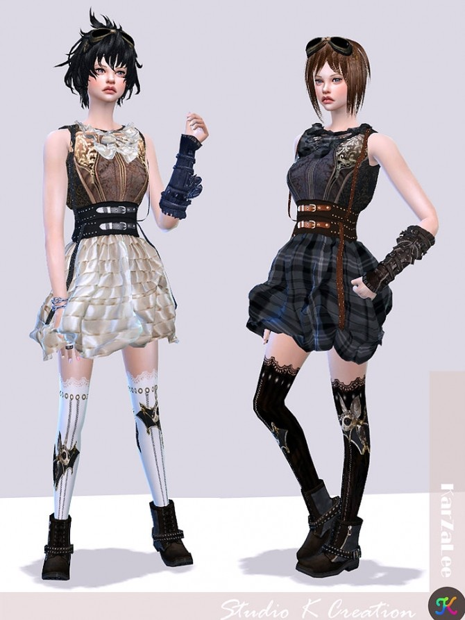 Steampunk Outfit Set 1 At Studio K Creation 187 Sims 4 Updates