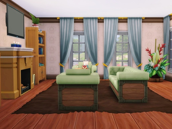 Sunlit Tides house by MychQQQ at TSR image 304 Sims 4 Updates