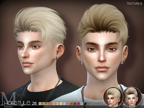 Michael n26 hair by S Club at TSR image 305 Sims 4 Updates