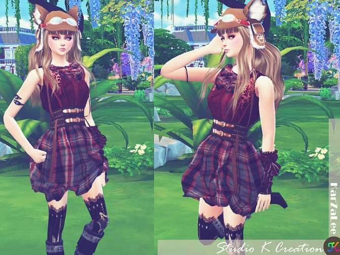 Sims 4 Steampunk outfit set 1 at Studio K Creation