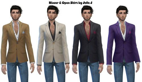 Male Blazer and Open Shirt at Julietoon – Julie J image 3107 Sims 4 Updates
