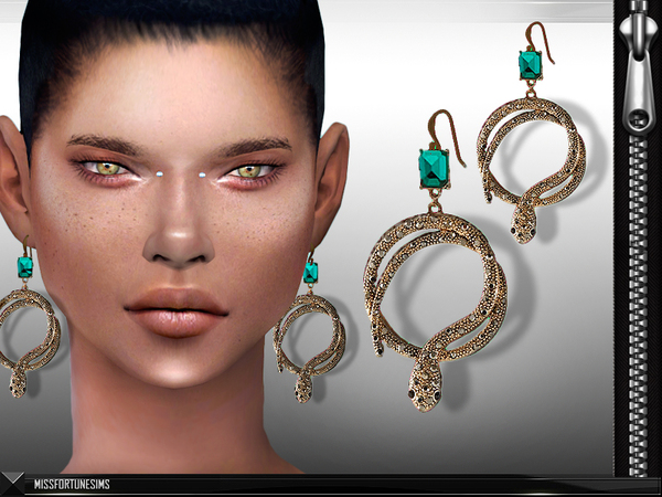 Sims 4 MFS Klaudia Earrings by MissFortune at TSR