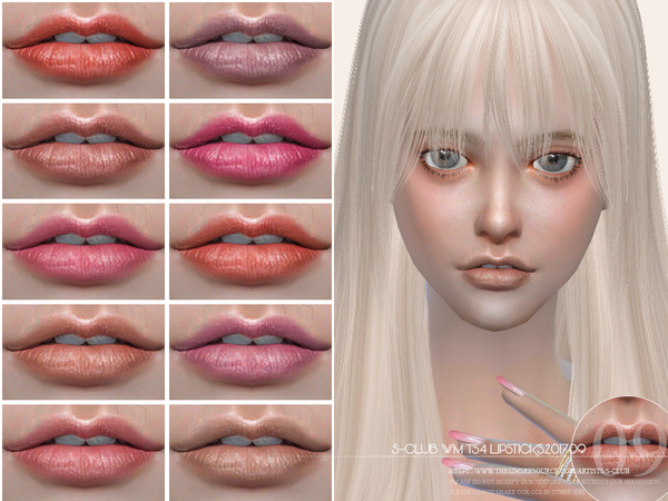 Lipstick 201709 by S Club WM at TSR image 3110 Sims 4 Updates
