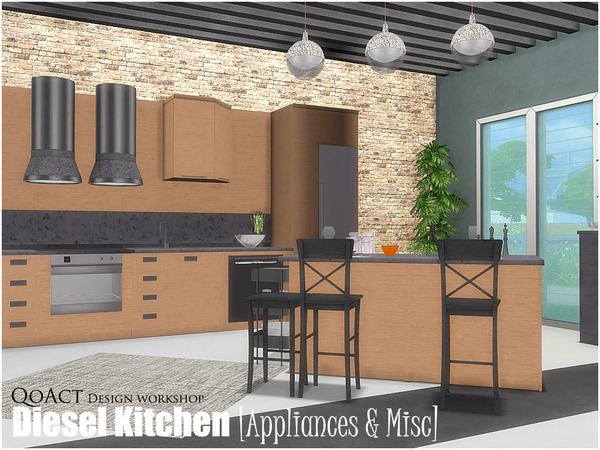 Diesel Kitchen 2 by QoAct at TSR image 3112 Sims 4 Updates