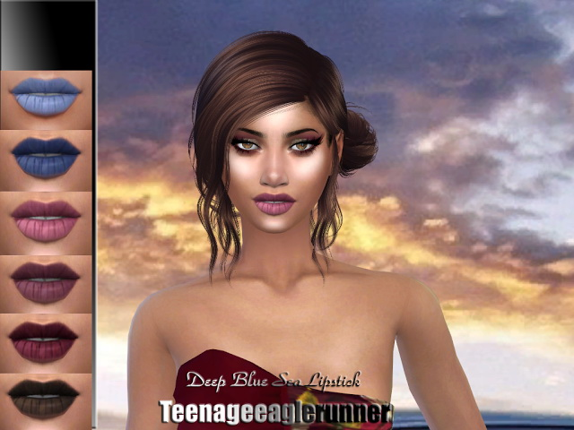 Sims 4 Deep Blue Sea Lipstick at Teenageeaglerunner