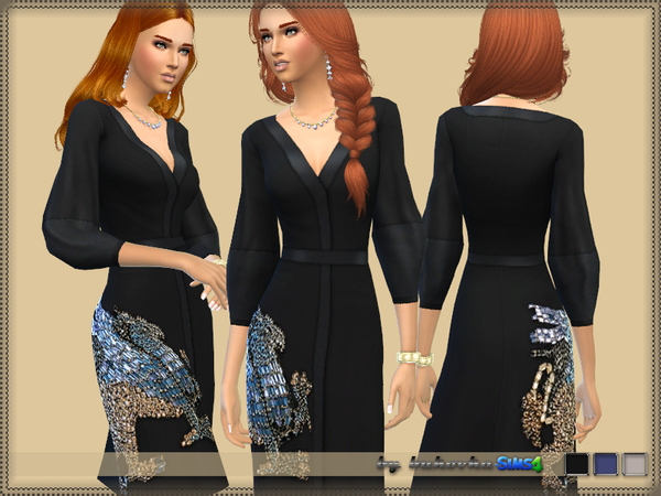 Dress Embroidered Griffin by bukovka at TSR image 316 Sims 4 Updates