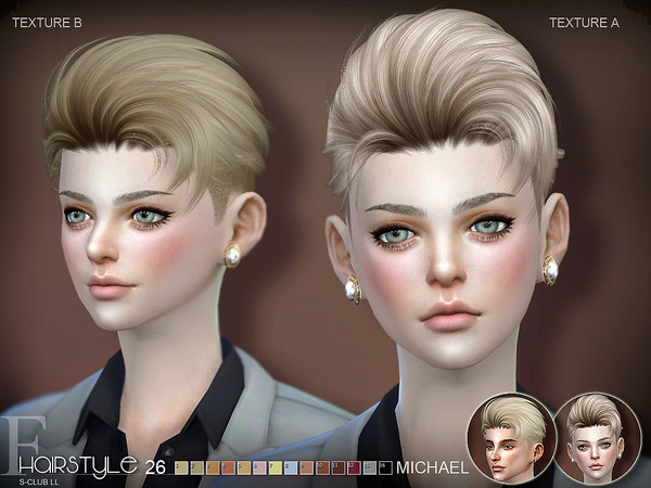 Michael n26 hair by S Club at TSR image 319 Sims 4 Updates