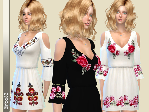 Sims 4 Esperanza dress by Birba32 at TSR