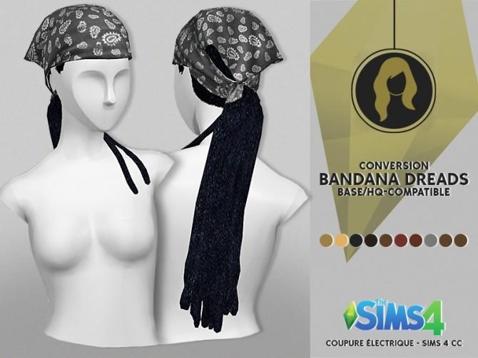Sims 4 BANDANA DREADS at REDHEADSIMS