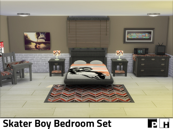 Skater Boy Bedroom by Pinkfizzzzz at TSR image 325 Sims 4 Updates