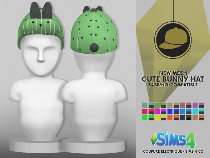 CUTE BUNNY HAT at Coupure Electrique image 3251 670x503 Sims 4 Updates