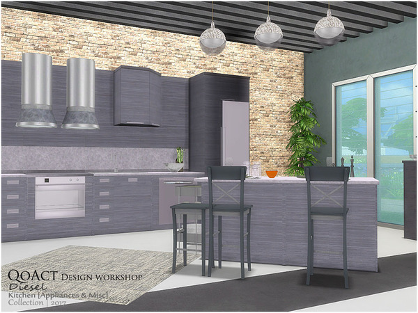 Diesel Kitchen 2 by QoAct at TSR image 328 Sims 4 Updates
