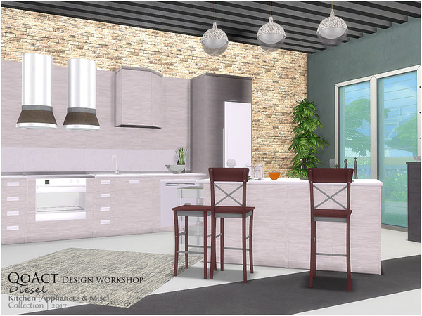 Diesel Kitchen 2 by QoAct at TSR image 3311 Sims 4 Updates