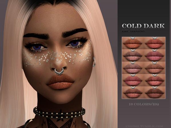 Sims 4 Lip Gloss cold dark by ANGISSI at TSR