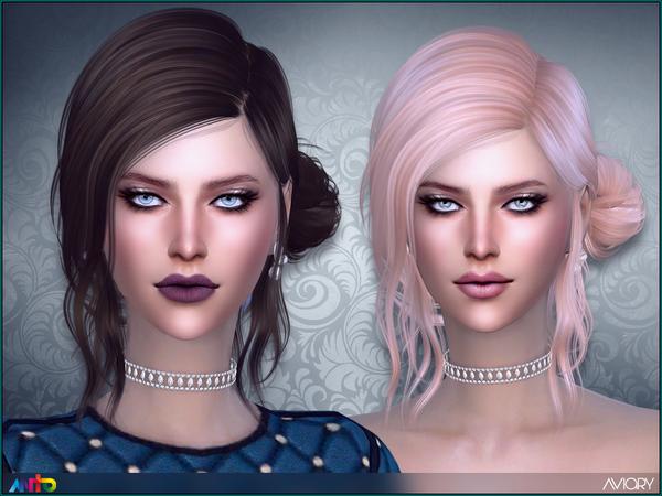 Sims 4 Aviary Hair by Anto at TSR