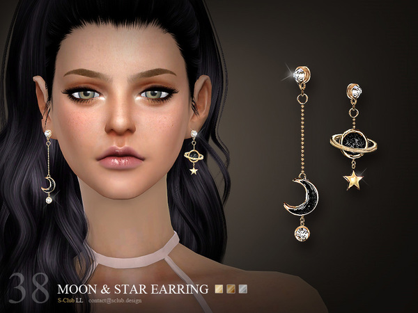 Earrings N38 by S Club LL at TSR image 3410 Sims 4 Updates