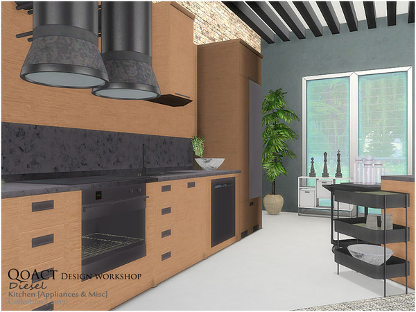 Diesel Kitchen 2 by QoAct at TSR image 3412 Sims 4 Updates
