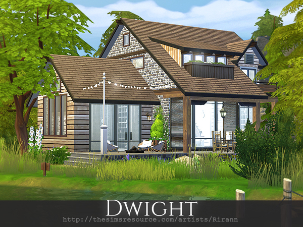 Sims 4 Dwight house by Rirann at TSR