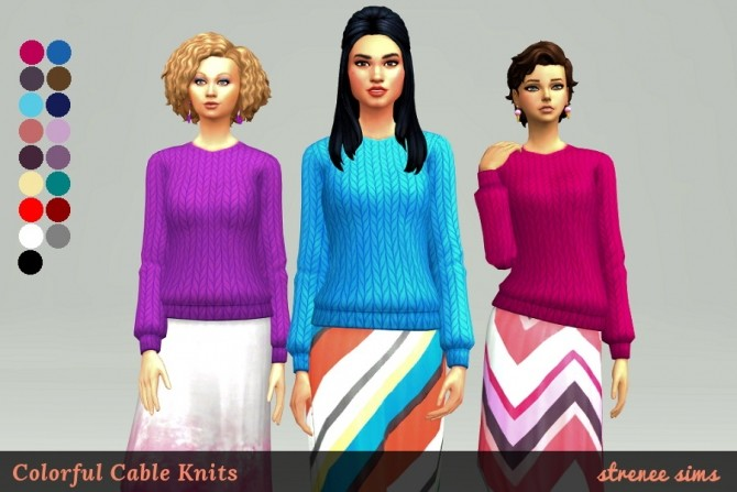 Colorful Cableknits by Stacy at Strenee Sims image 3510 670x447 Sims 4 Updates