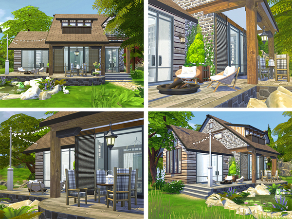Sims 4 Dwight house by Rirann at TSR