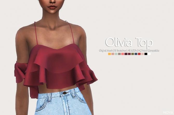 Olivia Top At Nova 187 Sims 4 Updates