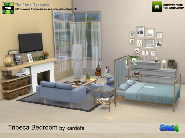 Sims 4 Tribeca Bedroom by kardofe at TSR