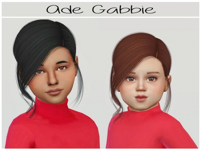 Sims 4 Ade Gabbie hair for kids and toddlers at Simiracle
