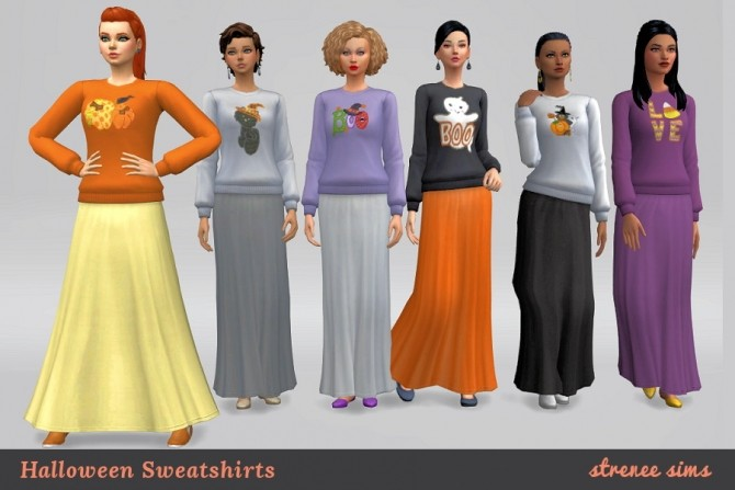 Halloween Sweaters by Stacy at Strenee Sims image 369 670x447 Sims 4 Updates