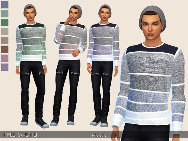 Male Sweater by Paogae at TSR image 371 Sims 4 Updates