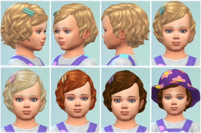 Sims 4 Toddler Soft Curls with Bangs at Birksches Sims Blog