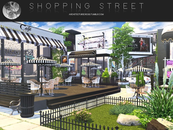 Shopping Street by Pralinesims at TSR image 385 Sims 4 Updates