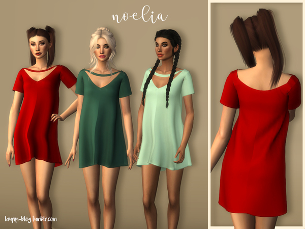 Sims 4 Noelia dress by laupipi at TSR