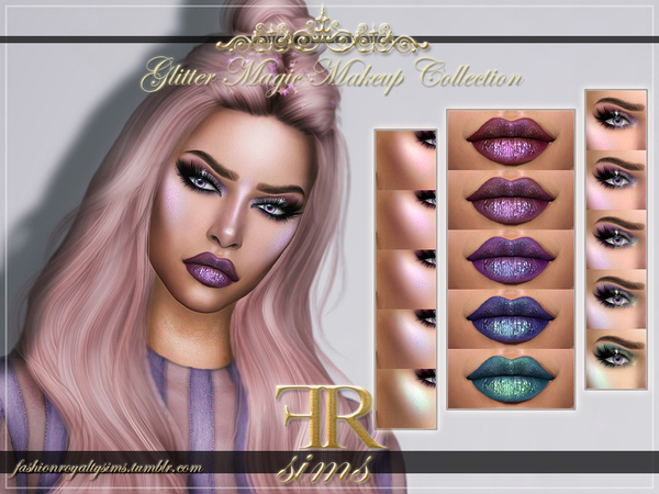 Glitter Magic Makeup Collection by FashionRoyaltySims at TSR image 3917 Sims 4 Updates