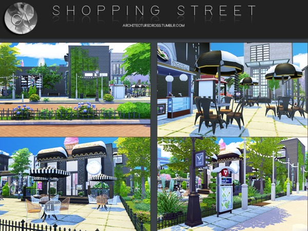 Shopping Street by Pralinesims at TSR image 395 Sims 4 Updates