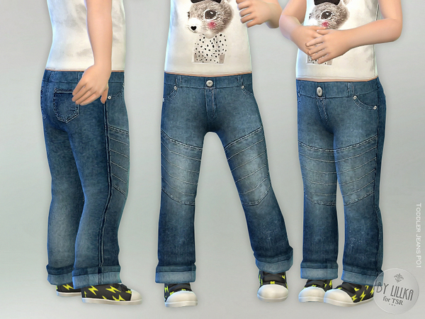 Sims 4 Toddler Jeans P01 by lillka at TSR