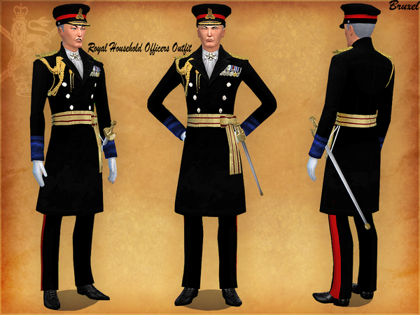 Sims 4 Royal Household Uniform Set by Bruxel at TSR