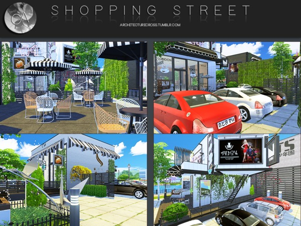 Shopping Street by Pralinesims at TSR image 405 Sims 4 Updates