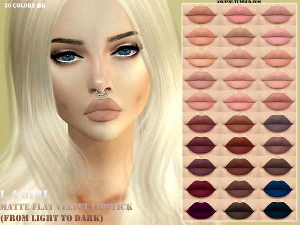 FLAT VELVET LIPSTICK by ANGISSI at TSR image 406 Sims 4 Updates