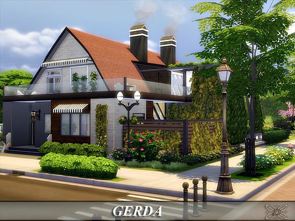 Sims 4 Gerda house by Danuta720 at TSR