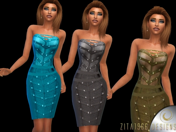 Steel Dress by ZitaRossouw at TSR image 4121 Sims 4 Updates