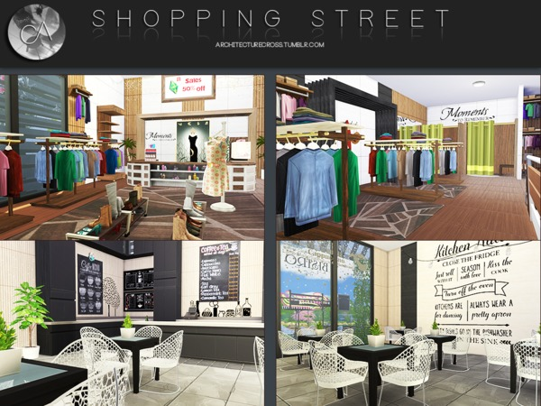 Shopping Street by Pralinesims at TSR image 419 Sims 4 Updates