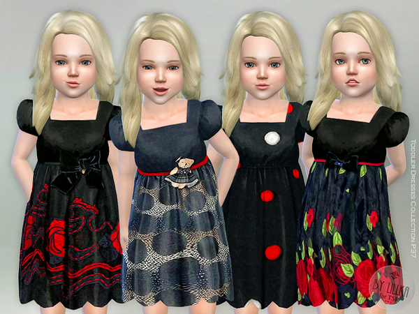 Sims 4 Toddler Dresses Collection P37 by lillka at TSR
