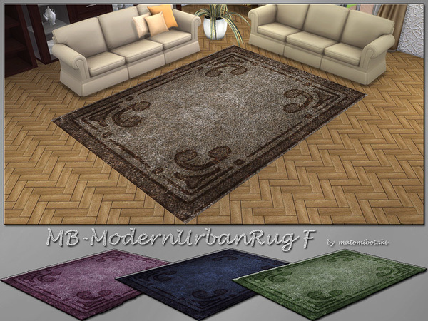Sims 4 MB Urban Modern Rug F by matomibotaki at TSR